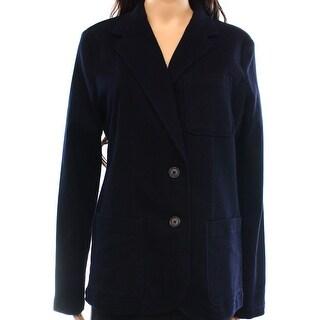 Lauren Ralph Lauren NEW Blue Women's Size 14 Denim Notched Jacket