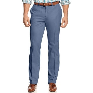 Tommy Bahama Big and Tall Del Chino Flat Front Pants Dockside Blue 44 x 30