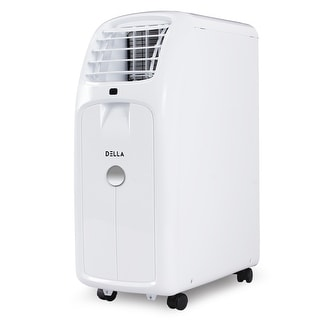DELLA 8000 BTU Portable Air Conditioner Cooling for Rooms Up To 350 Sq. Ft. Fan Dehumidifier Timer Remote Control Wheels