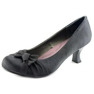 Pop Palace Women  Round Toe Canvas  Heels