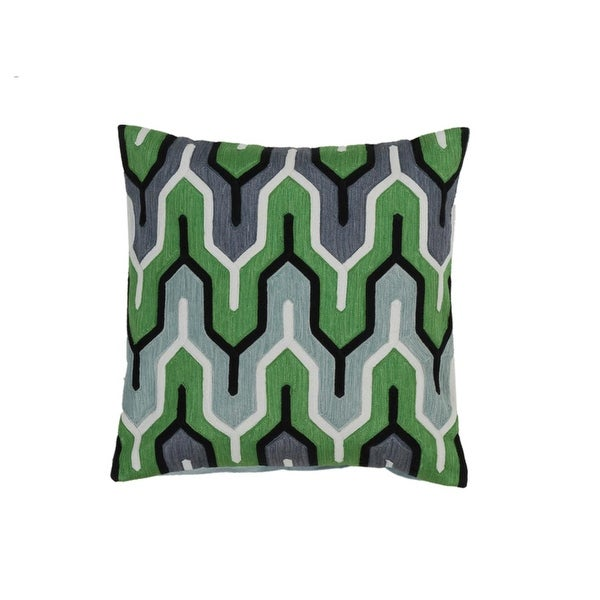 "20"" Cactus, and Seafoam Green, Penguin Black Empire Decorative Square Throw Pillow Down"