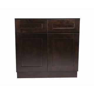 """Design House 562017 Brookings 48"""" Double Door Base Cabinet with Two Drawers"""