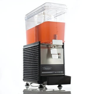 Omega OSD10 Commercial 1/3-Horsepower Drink Dispenser with 3-Gallon Container, Black & Stainless Steel