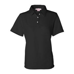 FeatherLite Women's Moisture Free Mesh Sport Shirt - Black - L