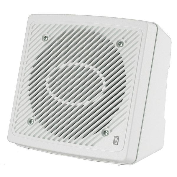"Poly-Planar 5.25"" Premium Enclosed Flush 2-Way Marine Speaker - (Pair) White"