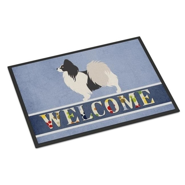 Carolines Treasures BB8322MAT Papillon Welcome Indoor or Outdoor Mat - 18 x 27 in.