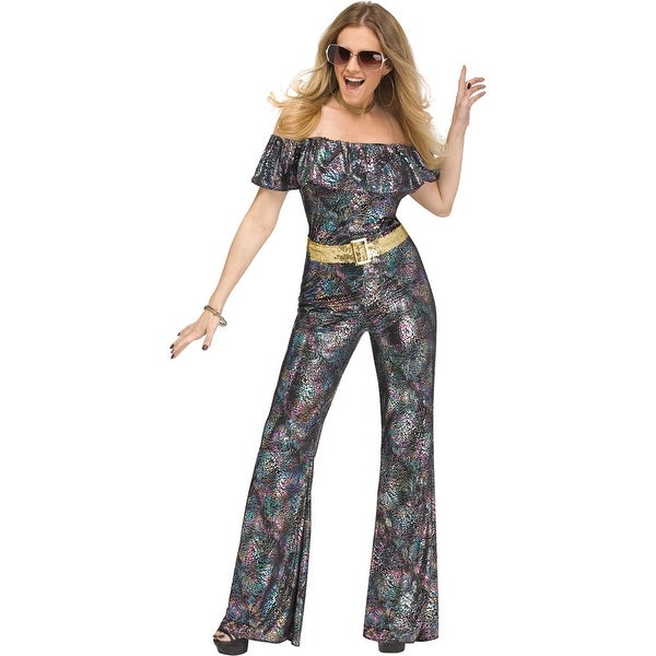 3ff5897d6b Womens Disco Queen 70s Halloween Costume