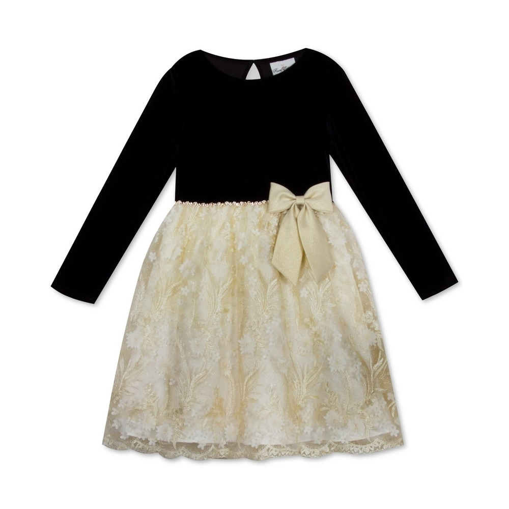 Lovely New Girls Navy White Laser Cut Skirt Party Dress Age 4 6 8 10 12 14 Years