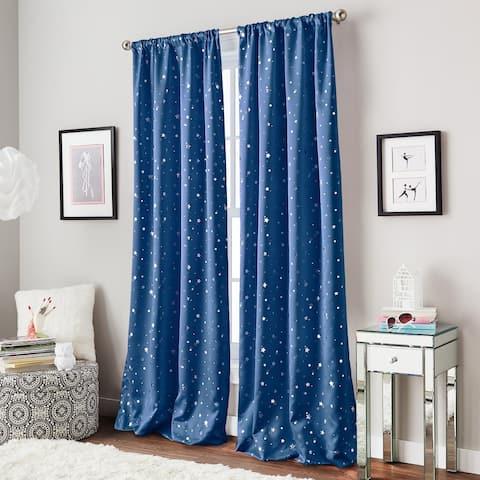 Starry Night Rod Pocket Single Curtain Panel