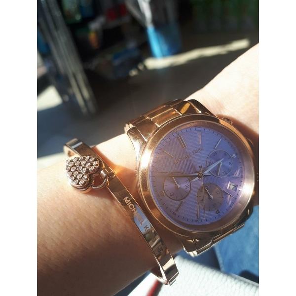 9f39768b95d3 Shop Michael Kors Women s MK6163 Runway Round Rose Gold-tone Bracelet Watch  - Free Shipping Today - Overstock - 10183110