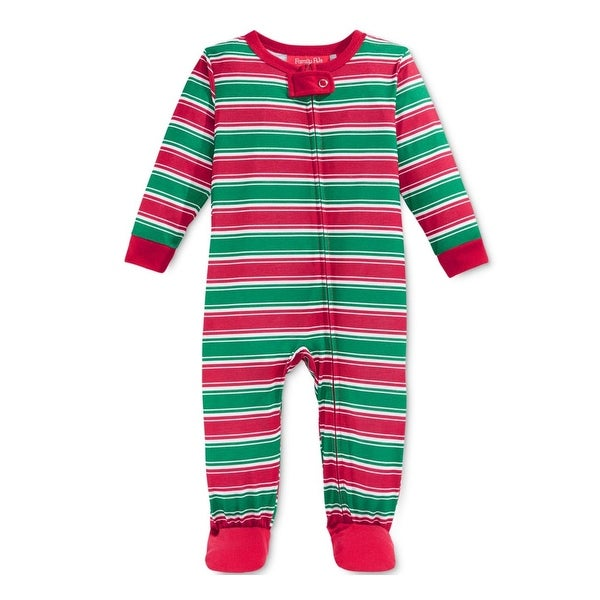 Shop Family PJs Footed Pajamas Striped Holiday - Free Shipping On Orders  Over  45 - Overstock.com - 18505970 1d03033a2
