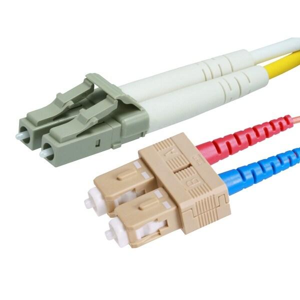 Monoprice 10Gb Fiber Optic Cable, LC/SC, Multi Mode, Duplex - 40 Meter (50/125 Type) - Aqua