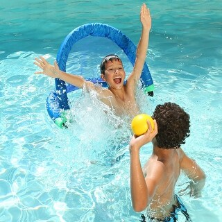 """23"""" Blue Noodle Goal Swimming Pool Toy Accessory for Water Games"""