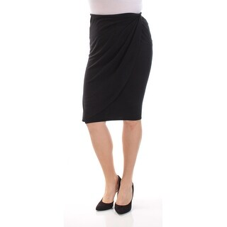 BAR III Womens Black Knee Length Tulip Skirt Size M