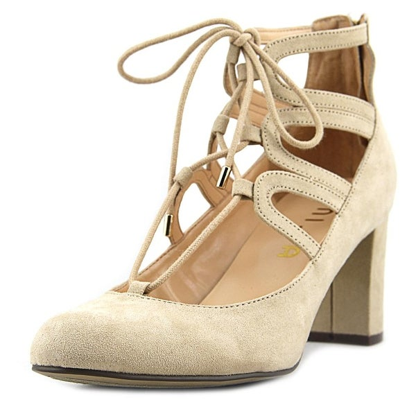 Unisa Calete Women Round Toe Canvas Brown Heels