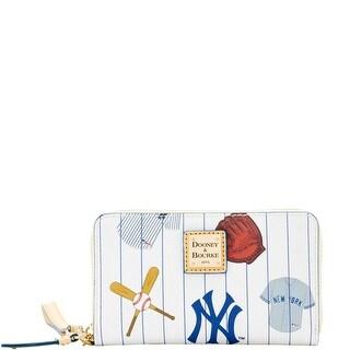 Dooney & Bourke MLB Yankees Zip Around Phone Wristlet (Introduced by Dooney & Bourke at $118 in Mar 2016) - White