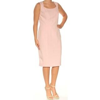 Womens Pink Sleeveless Knee Length Sheath Wear To Work Dress Size: 6