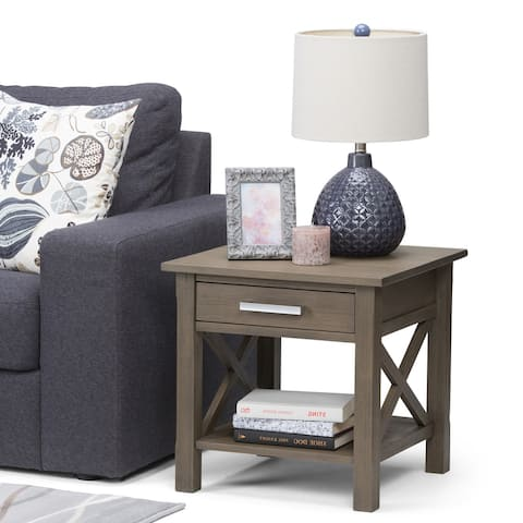 WYNDENHALL Waterloo SOLID WOOD 21 inch Wide Square Contemporary End Side Table - 21 inch Wide - 21 inch Wide