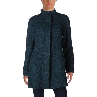 Anne Klein Womens Basic Coat Marled Non-hooded