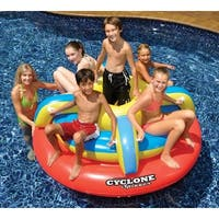 """67.5"""" Water Sports Colorful Cyclone Spinner Inflatable Swimming Pool Float"""