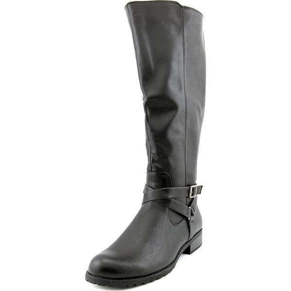 Style & Co. Womens BRIGYTE Almond Toe Knee High Riding Boots