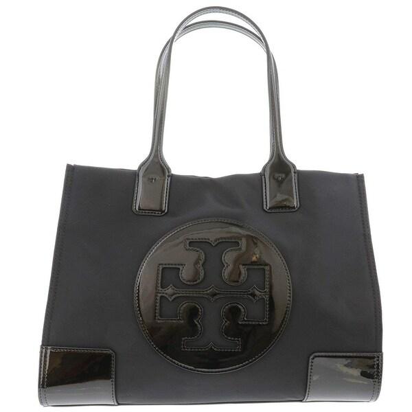 Tory Burch Ella Patent Mini Tote Black. Opens flyout.