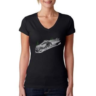 Link to Women's Word Art V-Neck T-Shirt - Ski Similar Items in Tops