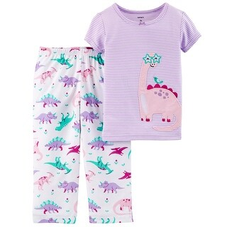 Carter's Baby Girls' 2 Piece Dinosaur Cotton & Poly PJs