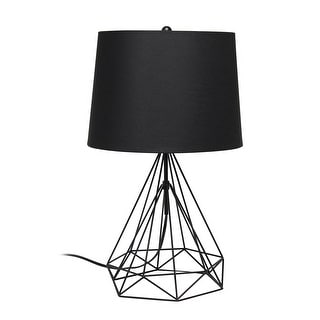 Link to Lalia Home Geometric Matte Wired Table Lamp with Fabric Shade Similar Items in Table Lamps