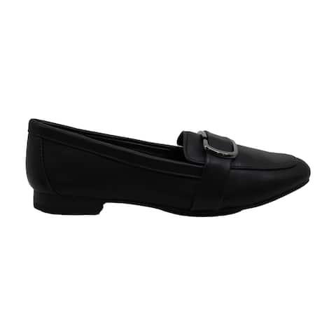 Alfani Womens Alfani Women's Step 'N Flex Ceciliaa Flats Leather Closed Toe O...