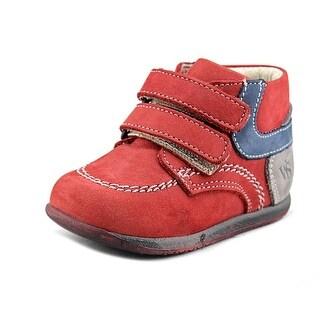 Walk Safari Austen Infant Round Toe Suede Red Sneakers