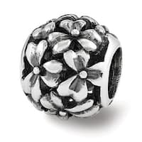 Sterling Silver Reflections Filigree Flower Bead (4mm Diameter Hole)