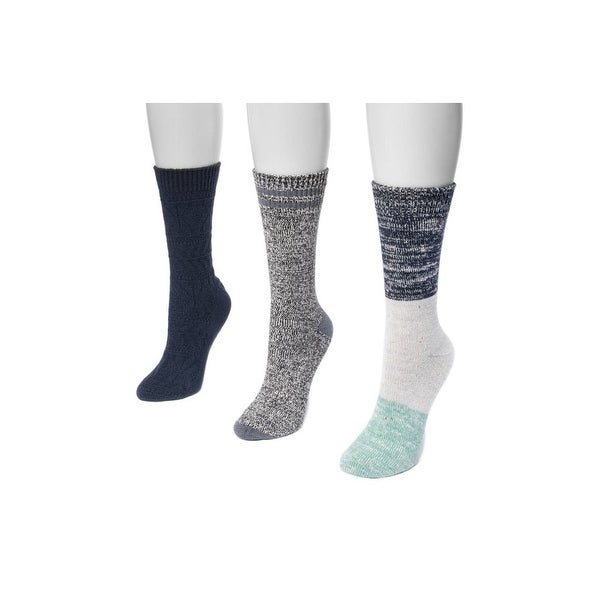 Muk Luks Socks Womens Boot Microfiber Blend 3 pack One Size - One size