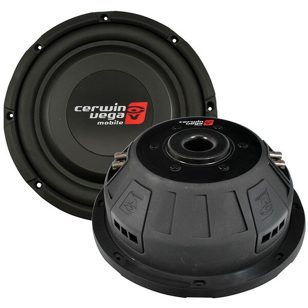 "Cerwin Vega 10"" Shallow Mount Subwoofer 600W Max 4 Ohm DVC"