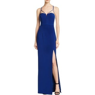 Bariano Womens Evening Dress Textured Slit