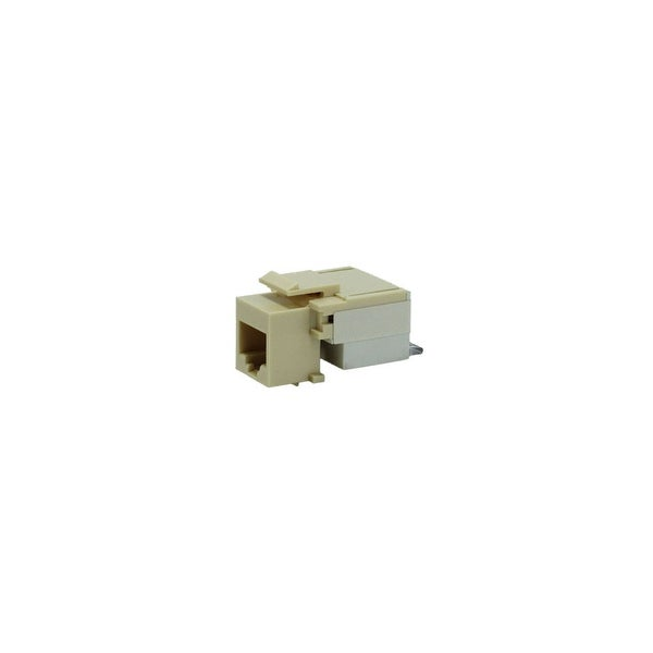 Cat5e Keystone Jack (Beige w/ Clear Snap Down)