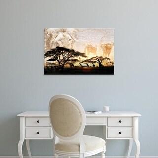Easy Art Prints GraphINC's 'Savanna' Premium Canvas Art