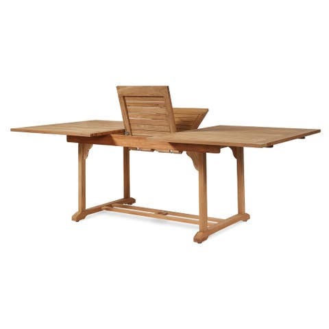 Dalton Rectangular Teak Outdoor Dining Table with Extension