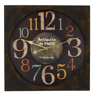 Aspire Home Accents 2453 Maltese Square Wall Clock