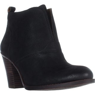 Lucky Brand Ehllen Pull On Ankle Boots, Black