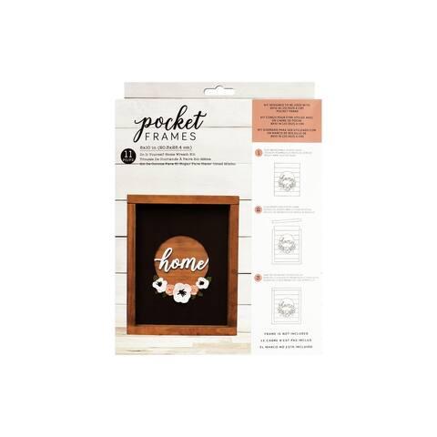 348122 amc d2e pocket frames diy 8x10 home wreath kit
