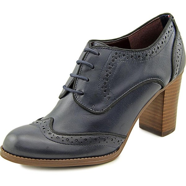 1a2d3f414 Shop Tommy Hilfiger Fabiole Women Wingtip Toe Leather Blue Oxford ...
