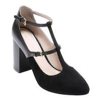 Cole Haan Women's Rheba Strappy Heel 85mm II Black Leather/Suede