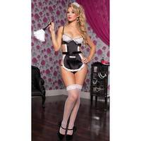 Maid With Care Lingerie Set, Hoty French Maid Lingerie - Black - One Size Fits most