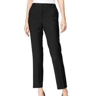 Calvin Klein NEW Black Women's Size 10X28 Front-Tab Solid Dress Pants