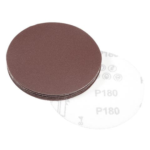 10Pcs 4.8 Inch Hook and Loop Sanding Disc 180 Grits Flocking Sandpaper Sander