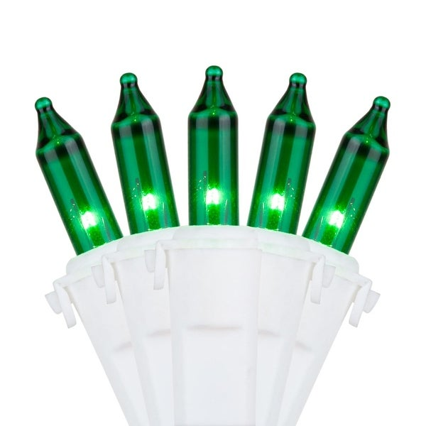 """Wintergreen Lighting 17567 17' Long Outdoor Premium 50 Mini Light Holiday Light Strand with 4"""" Spacing and White Wire"""