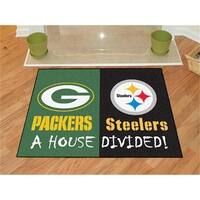 NFL - 34 in. x45 in.  - NFL - Green Bay Packers - Pittsburgh Steeler