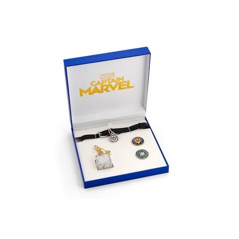 Marvel's Captain Marvel Exclusive Goose Collar Choker Includes Bonus Tesseract - Multi-Colored