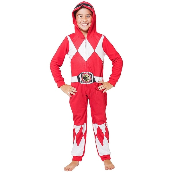5170cc9de41a Shop Intimo Mighty Morphin Power Rangers Kids Critter Hooded Pajamas - Free  Shipping On Orders Over  45 - Overstock - 18687656